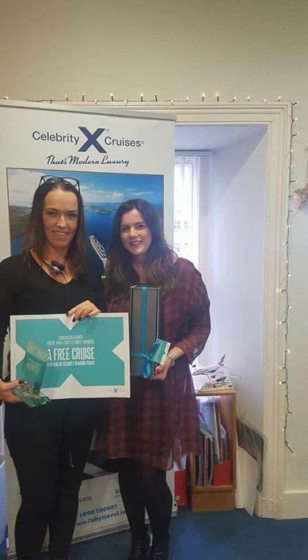 Fahy Travel Galway Caroline win's a Cruise with Celebrity Cruise Lines!