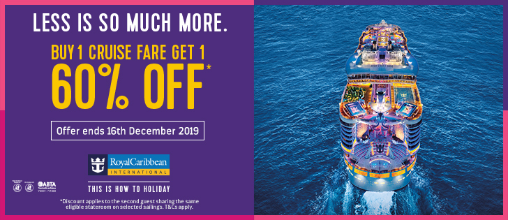Buy 1 Cruise Fare, Get 1 60% off